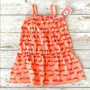 Girls 4T Peach Pink Cheetah Tank Top Dress
